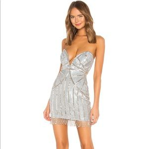 NBD Low Plunge Sequin Mini Dress